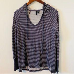Cynthia Rowley striped hooded sweatshirt size s
